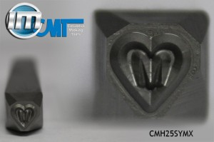 "1/4"" Heart Symbol with M"